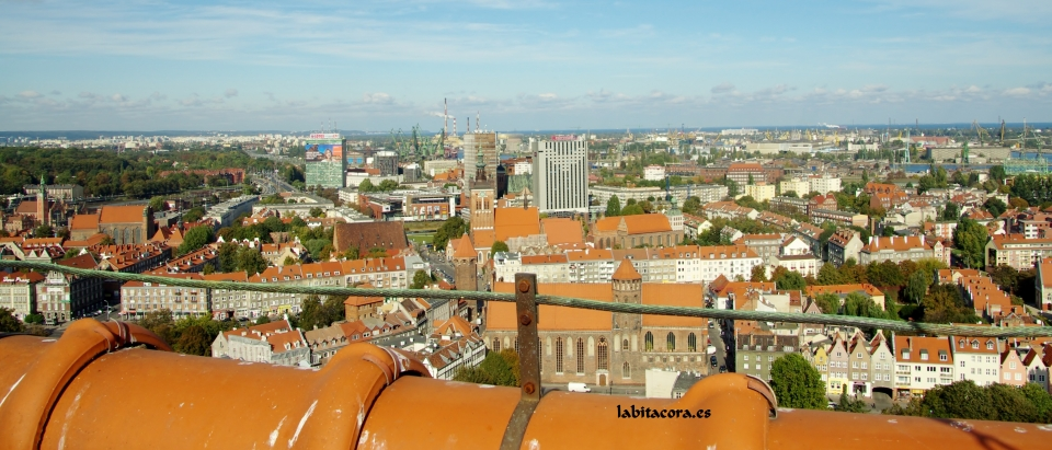 Panorámica torre catedral Gdansk